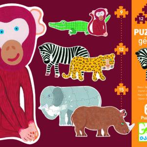 puzzle geant henri et ses amis - djeco