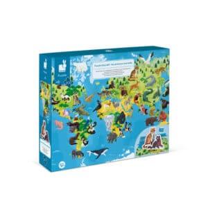 puzzle-educatif-geant-les-animaux-menaces-200-pcs-janod
